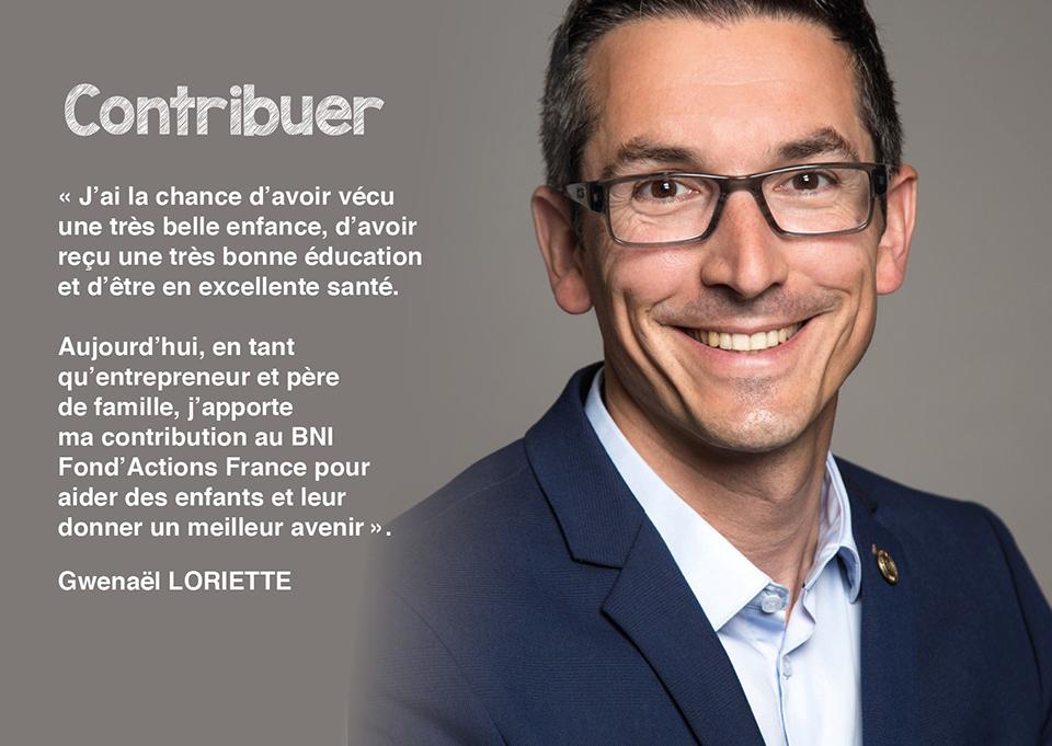 Gwenaël LORIETTE - Responsable des relais régionaux