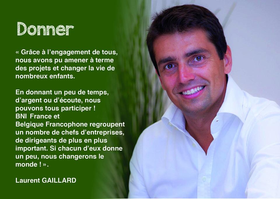 Laurent GAILLARD - Responsable des levées de fonds